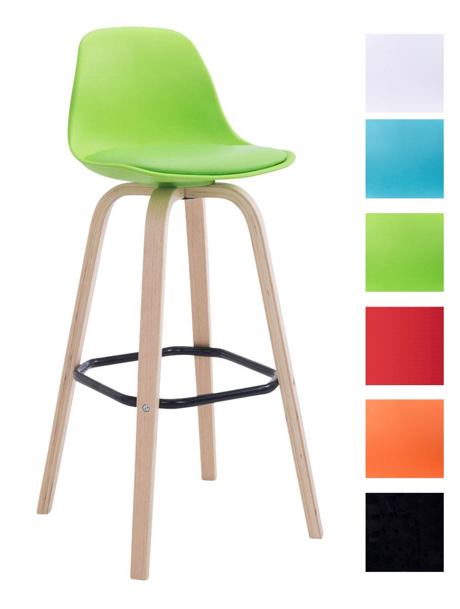 Barhocker avika natura holz barstuhl mit lehne sitzschale for Barhocker designklassiker