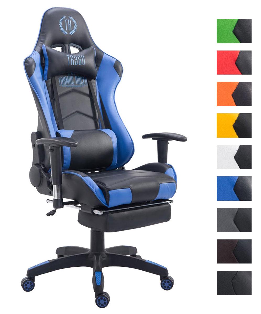 xl racing b rostuhl turbo 150 kg belastbar chefsessel mit fu ablage gaming stuhl ebay. Black Bedroom Furniture Sets. Home Design Ideas