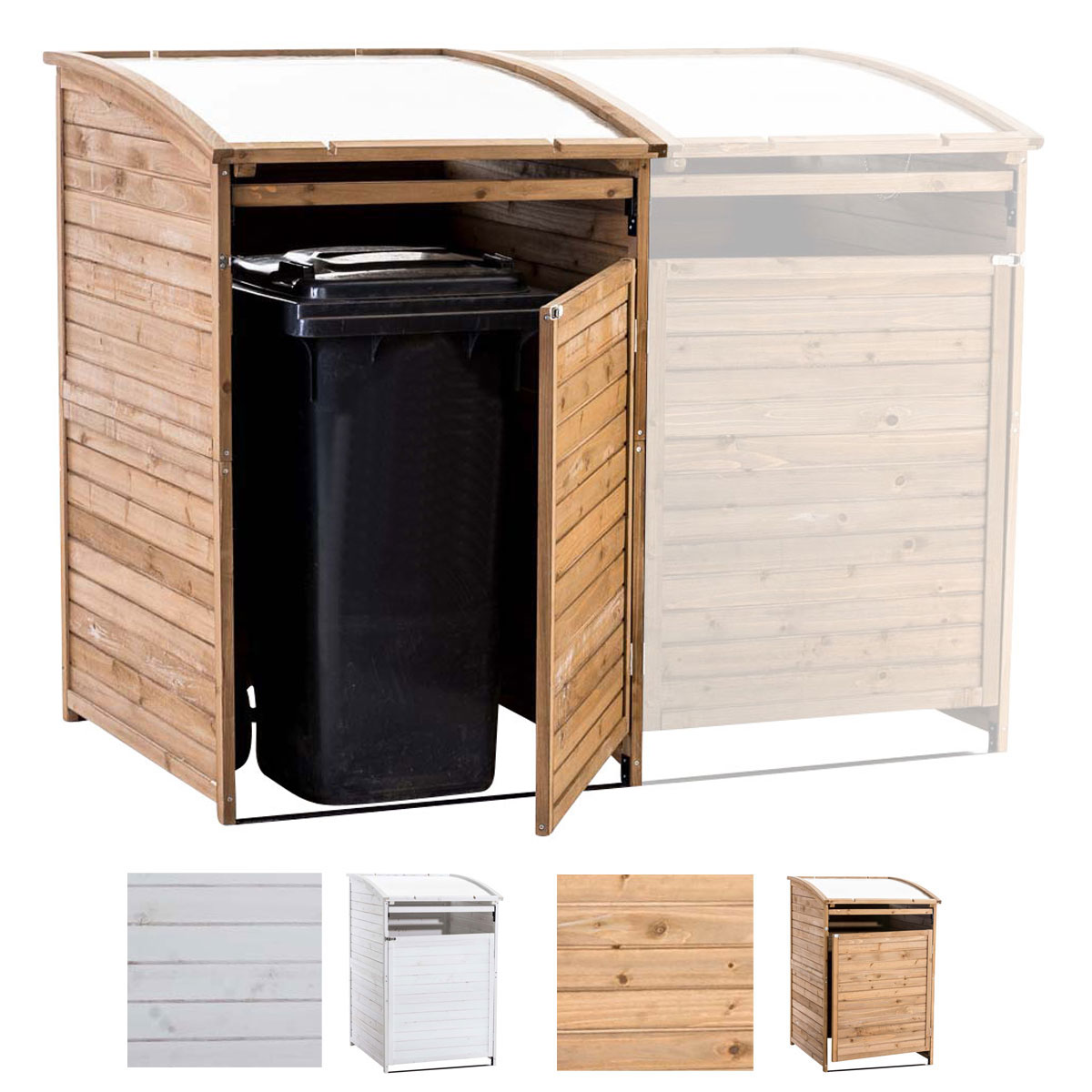 mülltonnenbox holz | ebay, Moderne