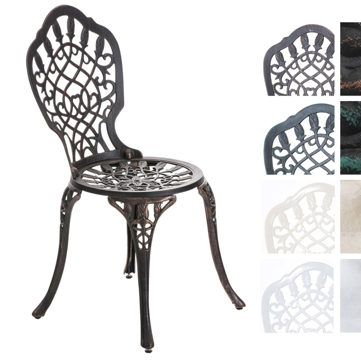 aluguss gartenstuhl laxmi antik bistrostuhl metall. Black Bedroom Furniture Sets. Home Design Ideas