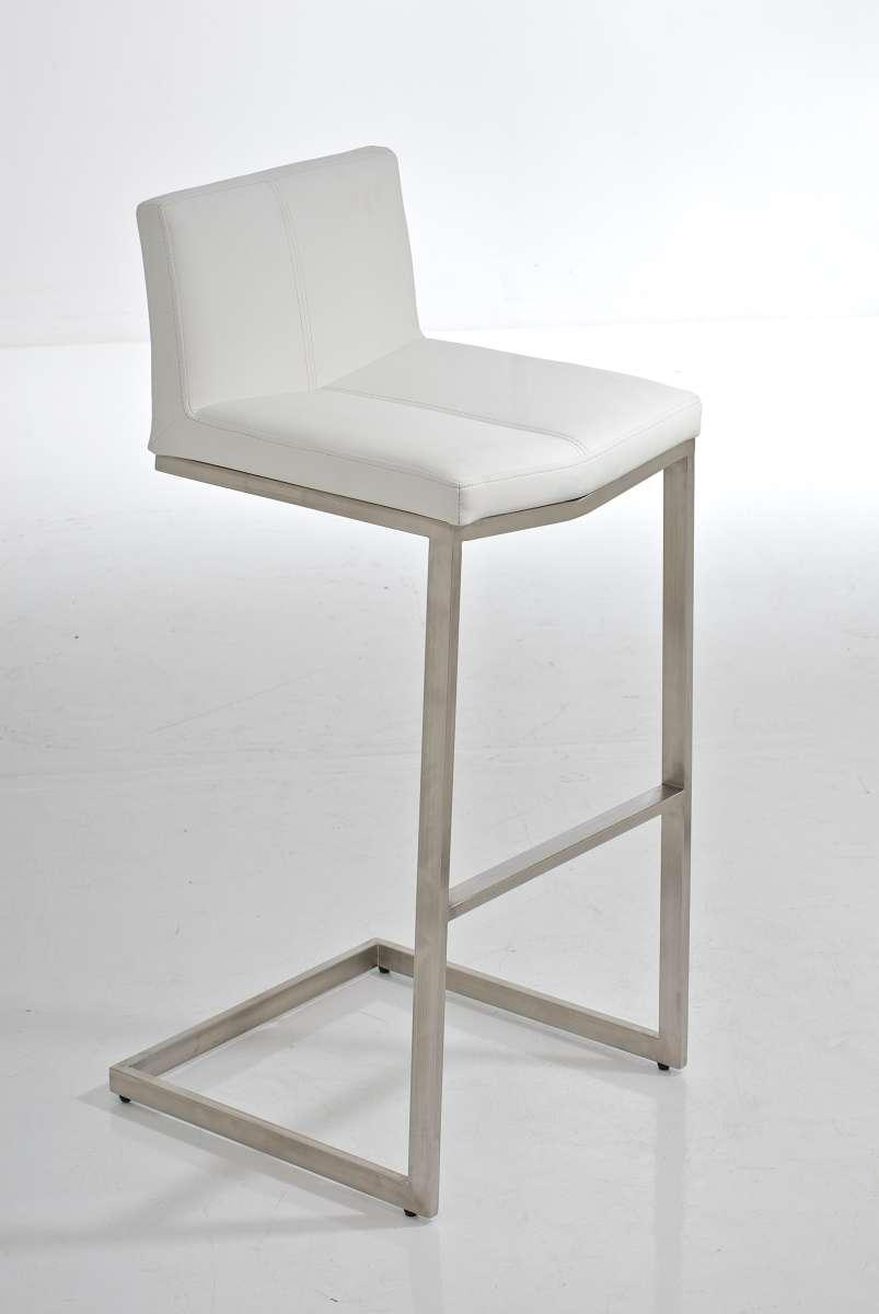 barhocker kos edelstahl mit lehne barstuhl freischwinger. Black Bedroom Furniture Sets. Home Design Ideas