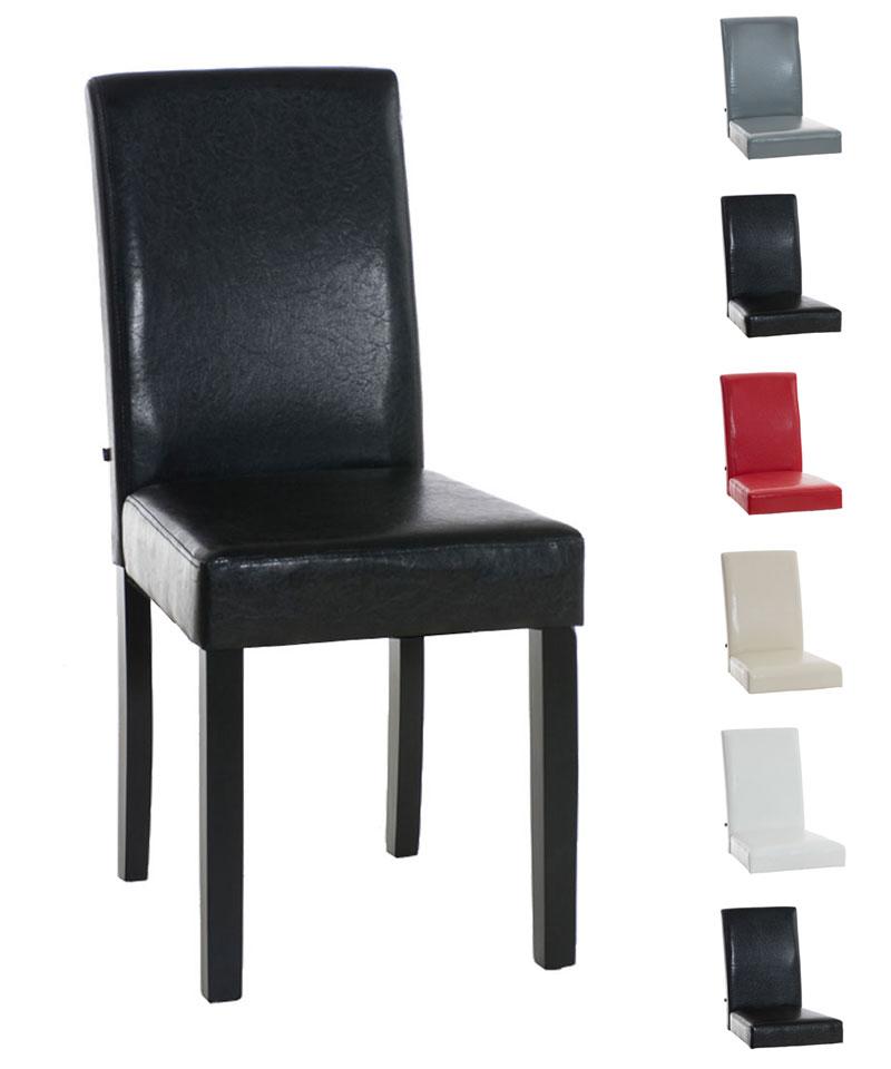 Esszimmerstuhl INA Schwarzes Gestell Holz Küchenstuhl Gastro Stühle  Hochlehner