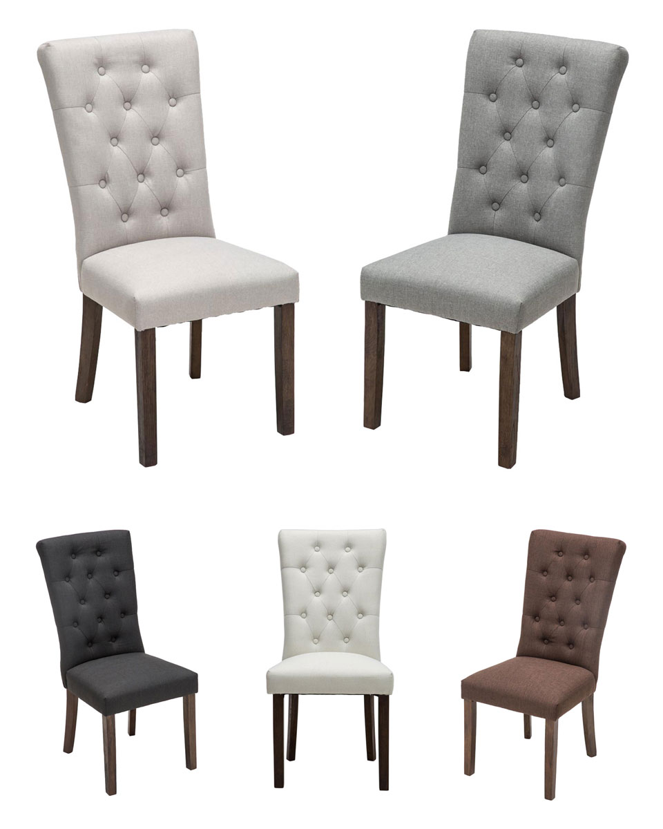 Chaise salle manger emden fauteuil tissu rembourr for Chaise haut dossier salle a manger
