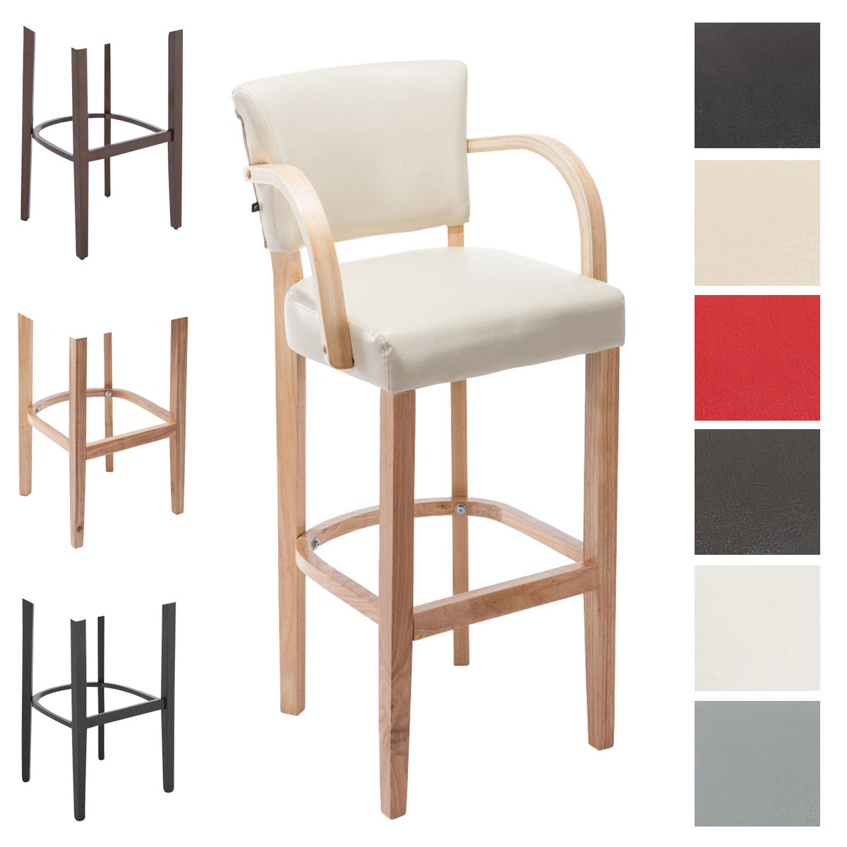 Bar Stool Lionel With Armrests Rubber Wood Modern Barstool  : 14635831713608f79039 from www.ebay.co.uk size 1200 x 1200 jpeg 106kB