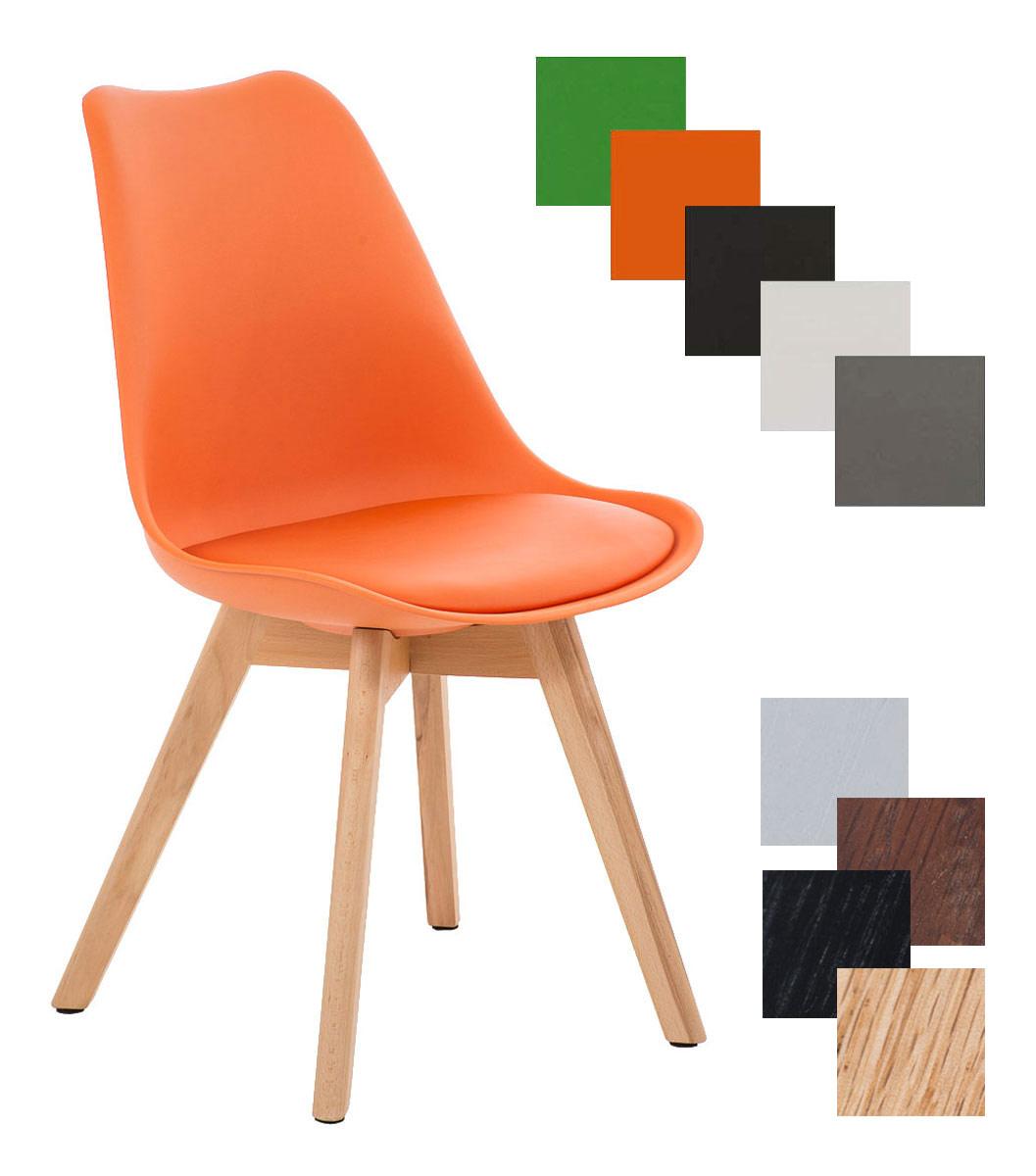 chaise salle manger scandinave borneo assise similicuir dossier plastique ebay. Black Bedroom Furniture Sets. Home Design Ideas