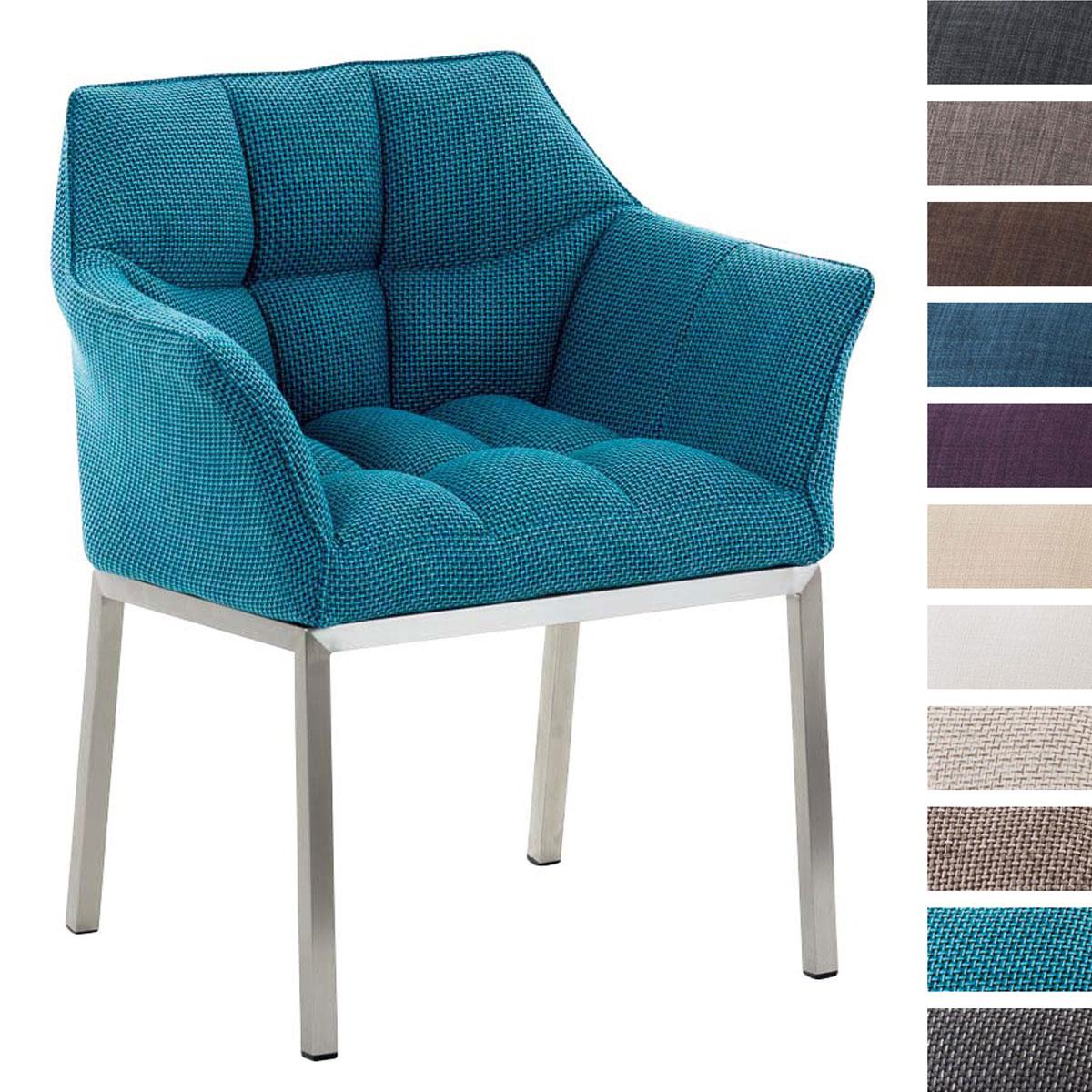 fauteuil de salle manger octavia acier chaise accoudoirs salon visiteur neuf ebay. Black Bedroom Furniture Sets. Home Design Ideas