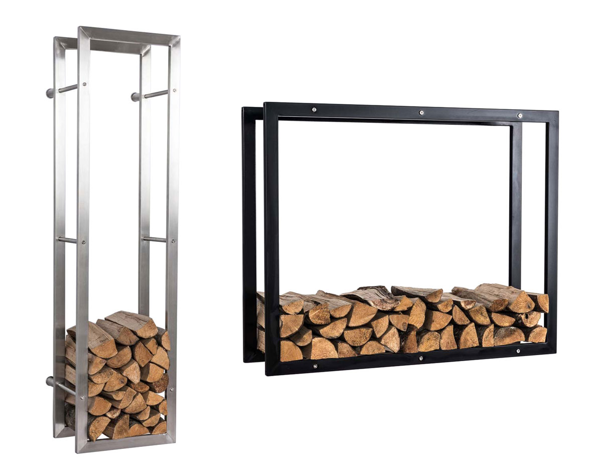 kaminholzst nder keri f r die wand kaminholzregal brennholz kaminholzablage ebay. Black Bedroom Furniture Sets. Home Design Ideas