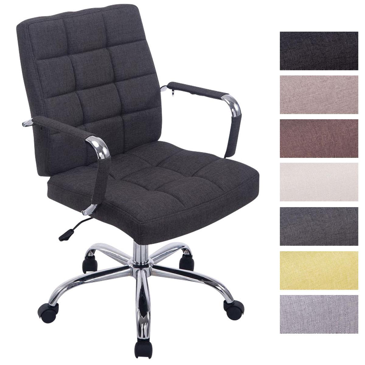 chaise bureau deli pro tissu fauteuil ordinateur r glable accoudoirs m tal neuf ebay. Black Bedroom Furniture Sets. Home Design Ideas