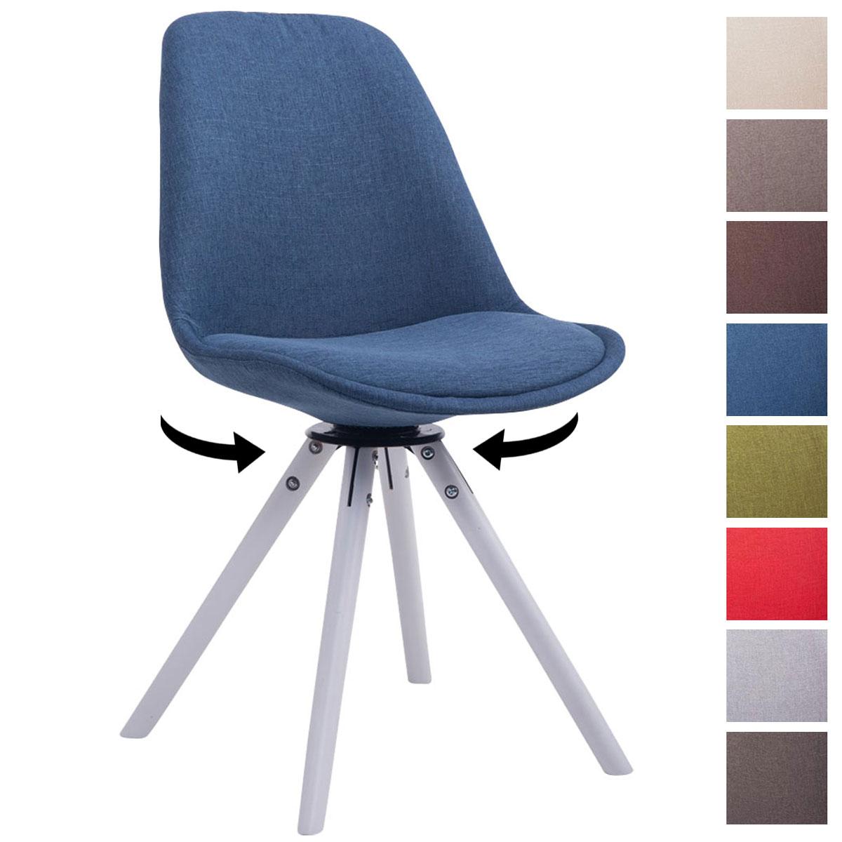 Chaise salle manger troyes pivotant bois fauteuil tissu design cuisine bureau ebay - Chaise de cuisine pivotante ...