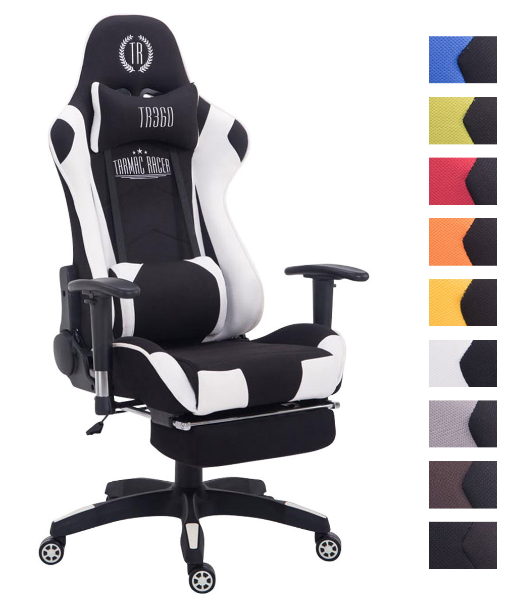 Xl Racing Bürostuhl Turbo Stoff Gaming Drehstuhl 150 Kg Belastbar