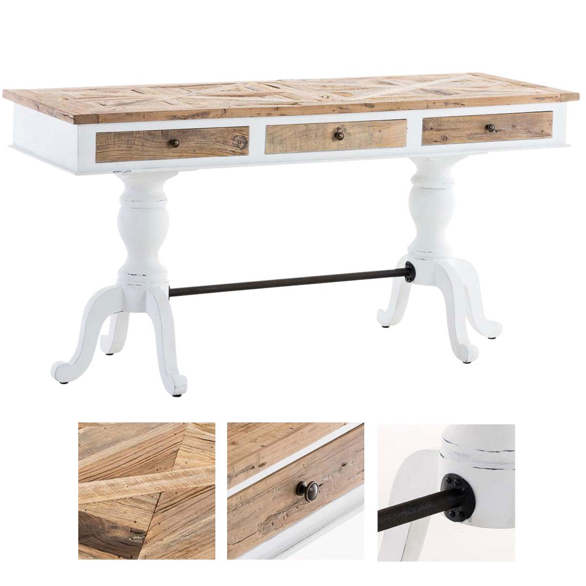 Schreibtische im Landhaus-Stil aus Holz fürs Wohnzimmer günstig ...