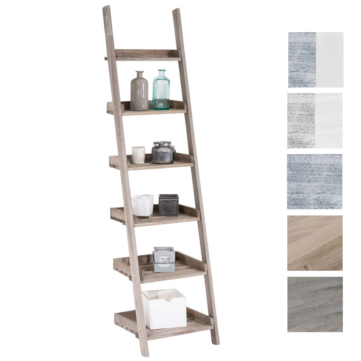 ladder shelf yasmin wooden shabby chic displaying shelves. Black Bedroom Furniture Sets. Home Design Ideas