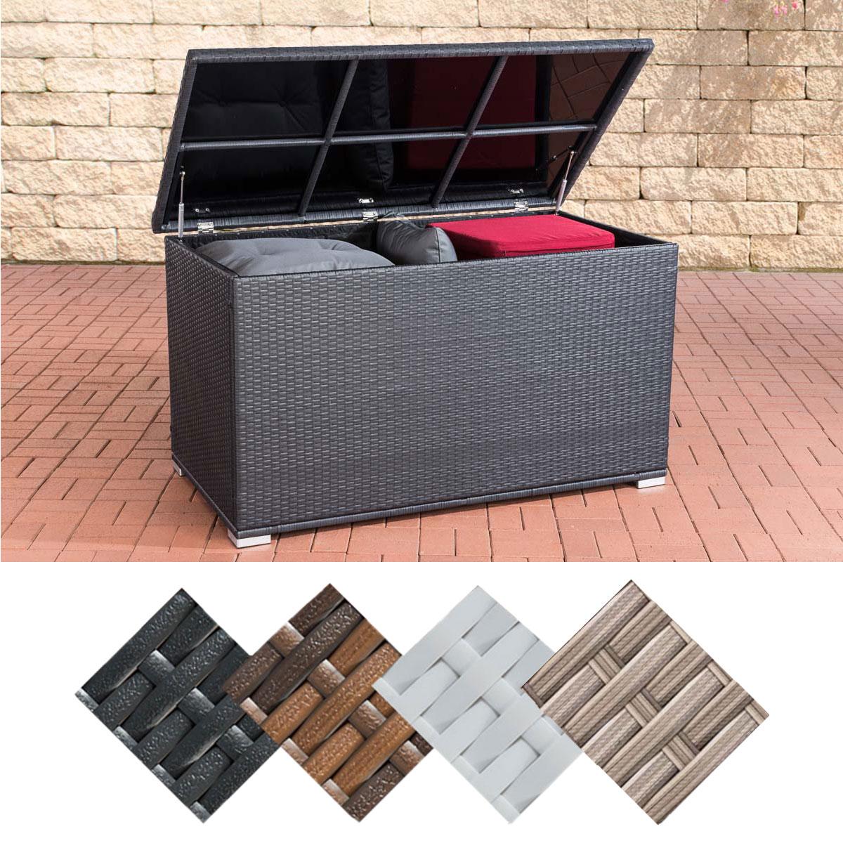 Polyrattan Auflagenbox Safe 685 Liter Gartenbox Kissenbox Gartentruhe Rattanbox