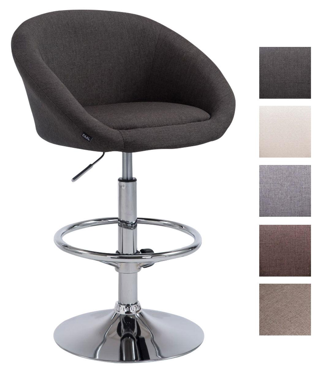 tabouret de bar miami v2 tissu pied trompette chrom comptoir coussin rembourr ebay. Black Bedroom Furniture Sets. Home Design Ideas