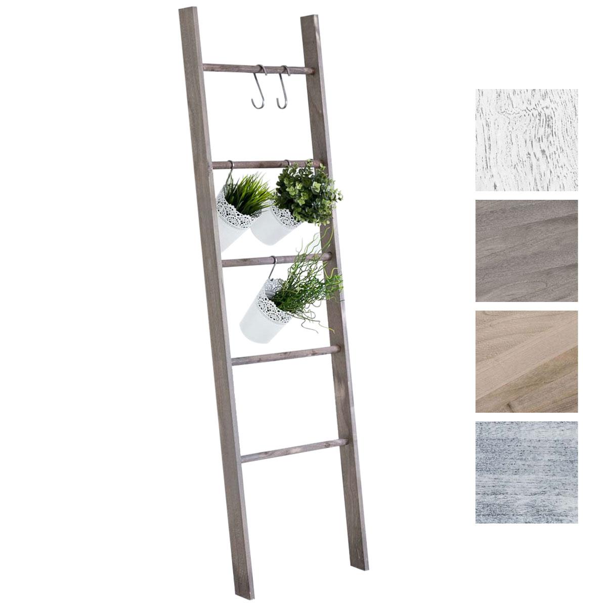 Scala Di Legno Decorativa dettagli su scala decorativa mariette legno 5 pioli scaletta piante  appediabiti shabby chic
