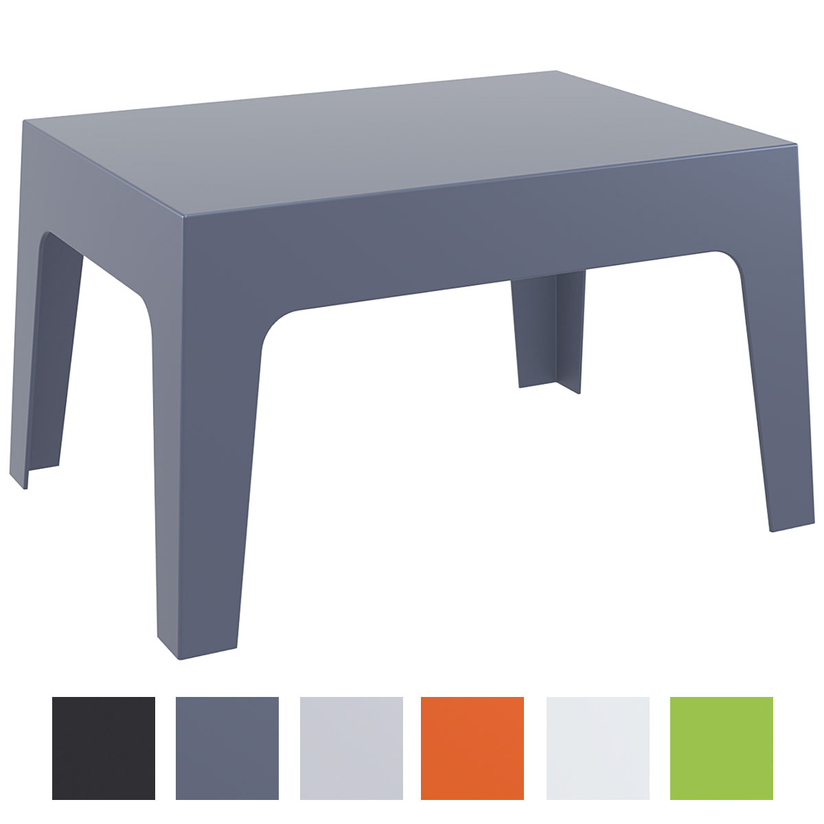 Table de jardin box table d 39 appoint en plastique table - Table de jardin plastique dur ...