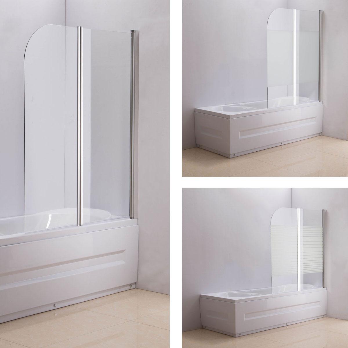 duschabtrennung badewanne esg sicherheitsglas nano duschwand badewannenfaltwand ebay. Black Bedroom Furniture Sets. Home Design Ideas