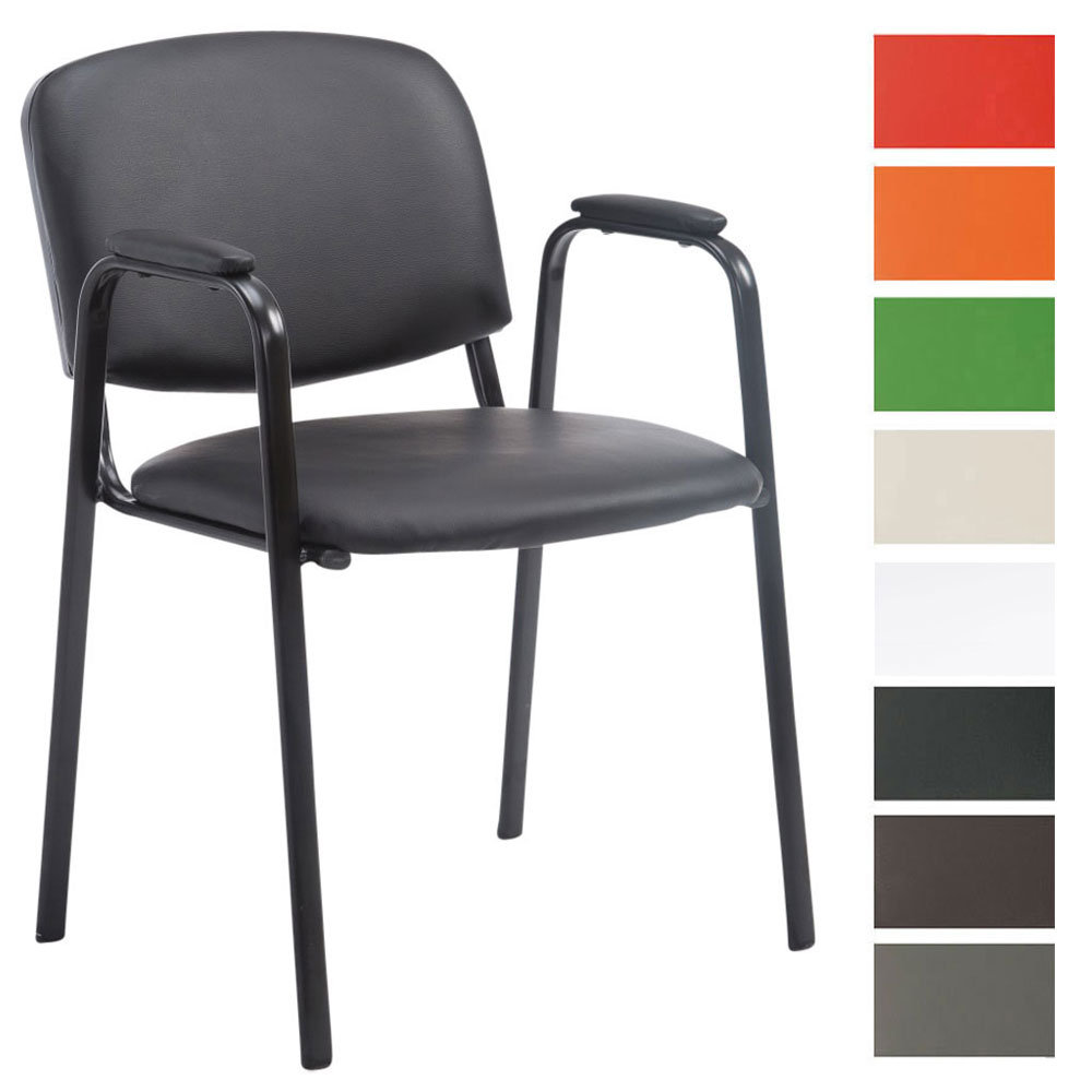 besucherstuhl ken pro kunstleder warteraumstuhl konferenzstuhl messestuhl ebay. Black Bedroom Furniture Sets. Home Design Ideas