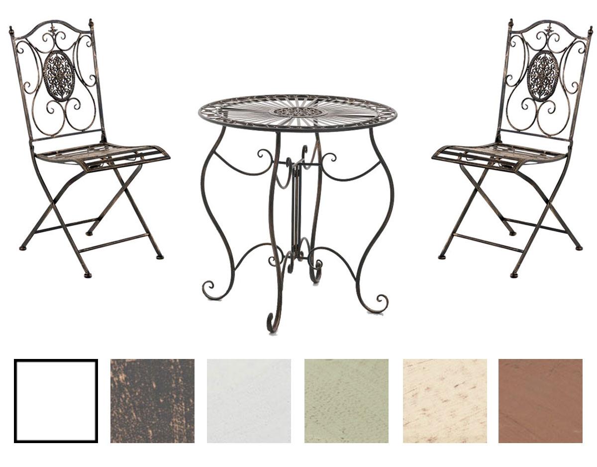 Sitzgruppe Aldeano Tischgruppe Metall Eisenmöbel Nostalgie Gartenmöbel Antik