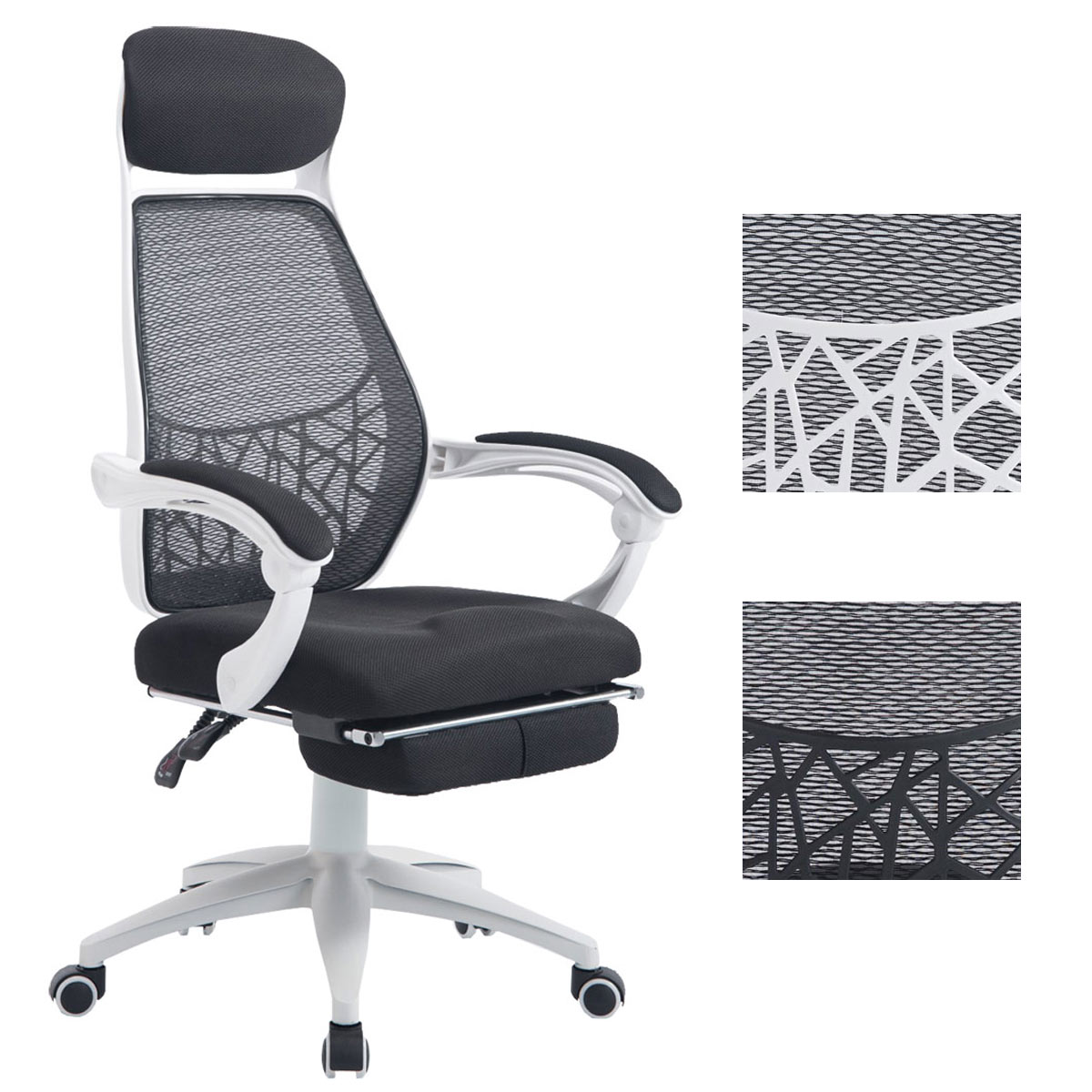 b rostuhl marcel netzbezug schreibtischstuhl drehstuhl mit fu ablage relaxsessel ebay. Black Bedroom Furniture Sets. Home Design Ideas