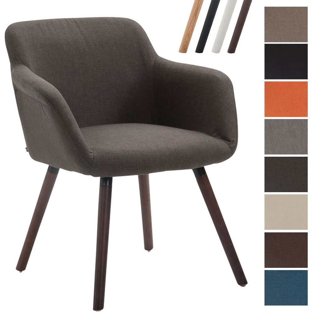 Chaise debbie fauteuil salle manger tissu salon design Fauteuil de table a manger