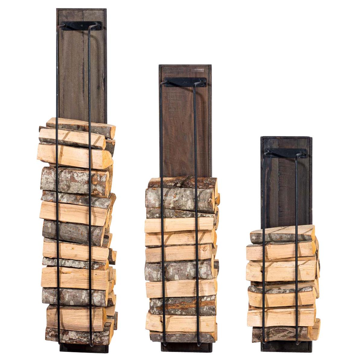 porte b ches mural houston rangement bois chauffage. Black Bedroom Furniture Sets. Home Design Ideas