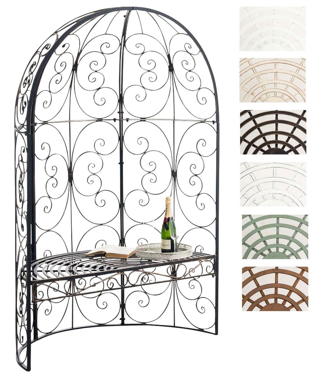halbpavillon rosie mit sitzbank gartenlaube eisen halblaube rosenbogen mit bank ebay. Black Bedroom Furniture Sets. Home Design Ideas