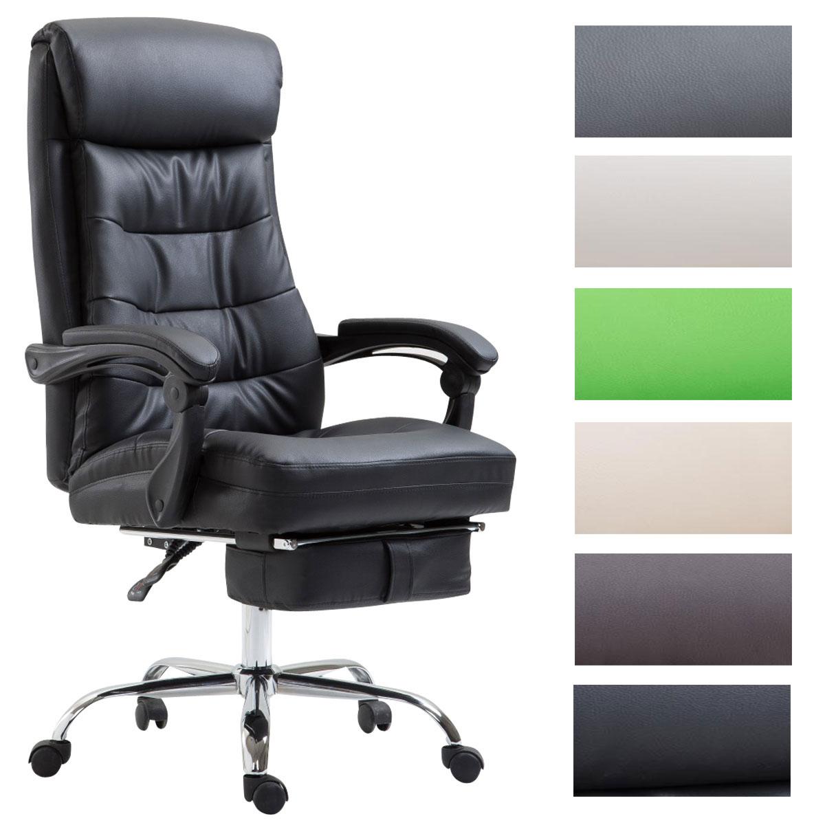 Details zu Bürostuhl Hades Kunstleder mit Fußablage Chefsessel Drehstuhl Arbeitsstuhl
