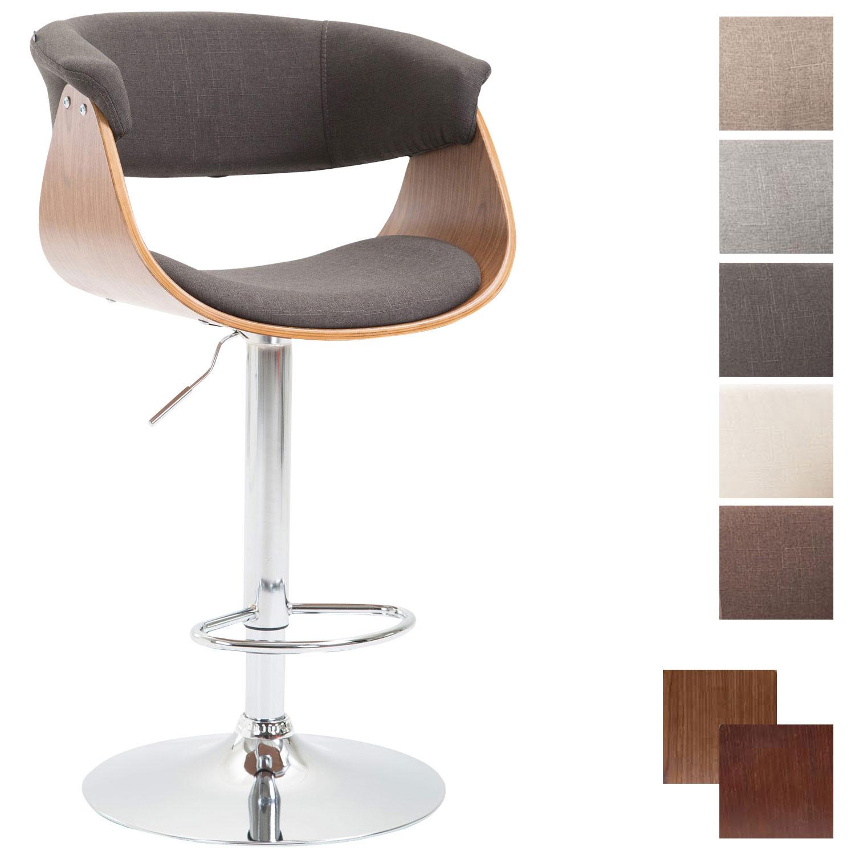 Tabouret de bar callao tissu chaise confortable de cuisine - Tabouret cuisine reglable hauteur ...