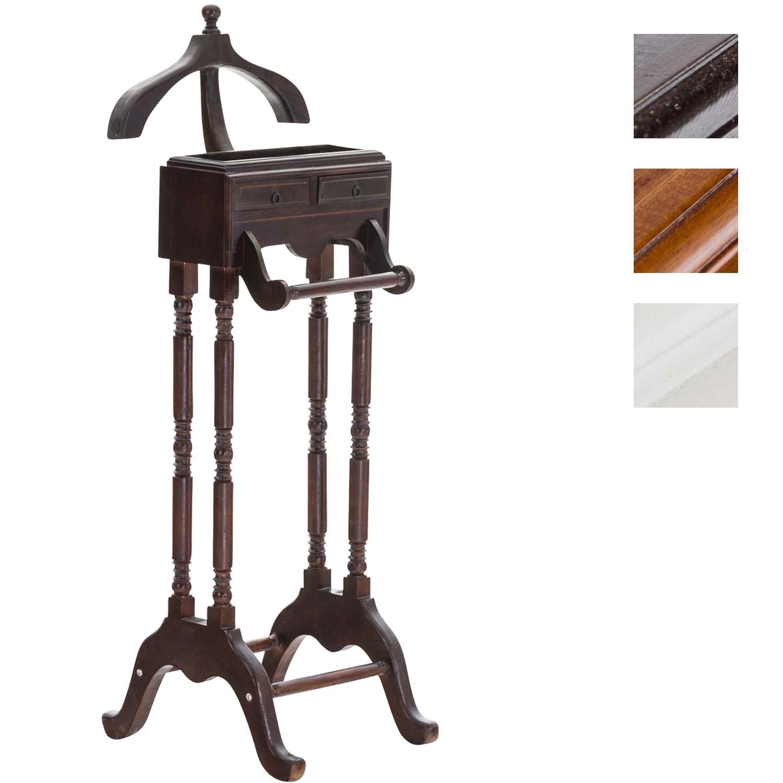 Détails sur Valet de chambre SWIFT en bois d\'acajou valet de nuit avec  tiroir porte vetement