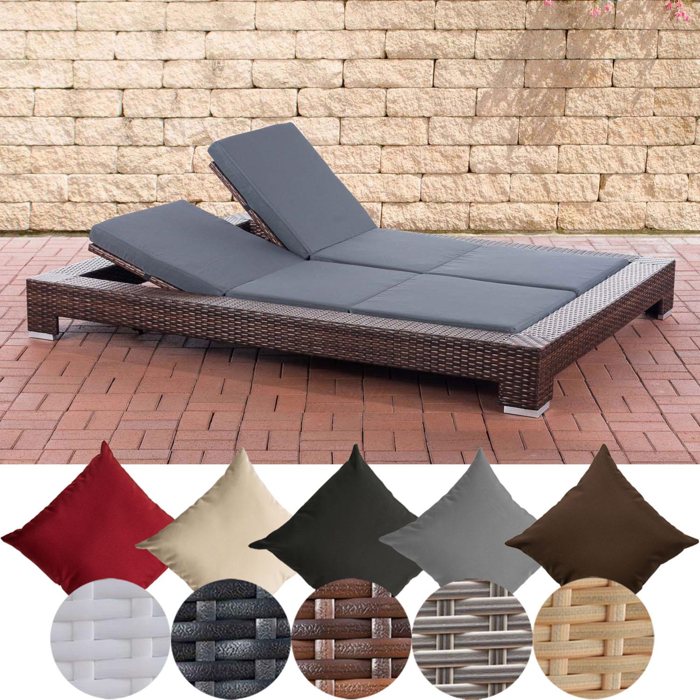 sonnenliege sunshine gartenliege 2 personen polyrattan relaxliege terrassenliege ebay. Black Bedroom Furniture Sets. Home Design Ideas