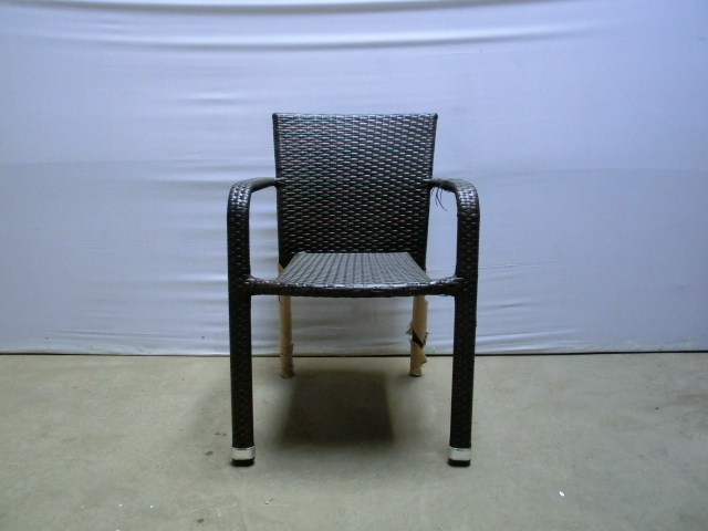 hbm40199 polyrattan stuhl leonie braun stapelstuhl gartenstuhl rattan b ware ebay. Black Bedroom Furniture Sets. Home Design Ideas