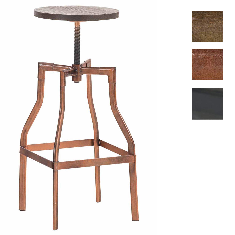 hocker kara holz metallhocker barhocker arbeitshocker h henverstellbar 66 81cm ebay. Black Bedroom Furniture Sets. Home Design Ideas