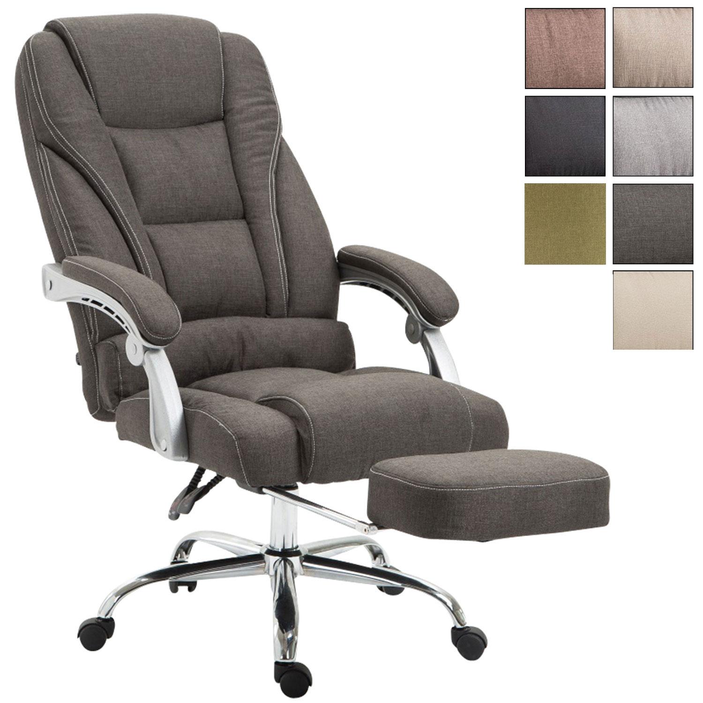 Bürostuhl Pacific Stoff mit Fußablage Chefsessel Schreibtischstuhl Drehstuhl